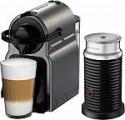 Deals List: Nespresso - Inissia Espresso Machine with Aeroccino Milk Frother by Breville - Titan, BEC150TTN1AUC1