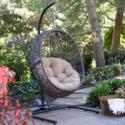 Deals List: Belham Living Resin Wicker Hanging Egg Chair w/Cushion