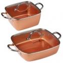 Deals List: Copper Chef 4-Piece Deep Casserole Pan Set 8-in, 12-inch