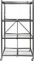 Deals List: Origami General Purpose Foldable 4-Shelf Storage Rack with Wheels (Large, Pewter)