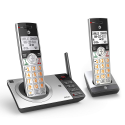 Deals List: AT&T CL82207 DECT 6.0 Expandable Cordless Phone with Answering System & Smart Call Blocker, Silver/Black with 2 Handset