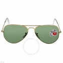 Deals List: Ray Ban RB3025-001 Aviator Green Polarized Lens Sunglasses