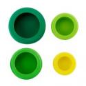 Deals List: Farberware Food Huggers Reusable Silicone Food Savers, Set of 4, Fresh Greens