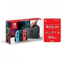 Deals List: Nintendo Switch Console with Joycon Wireless Controls + 12 Month Nintendo Switch Online Individual Membership