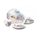 Deals List: Lenox Butterfly Meadow Hydrangea 12-Pc Dinnerware Set