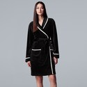 Deals List: Simply Vera Vera Wang Printed Plush Wrap Robe Womens