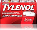 Deals List: Tylenol Extra Strength Caplets with 500 mg Acetaminophen, Pain Reliever & Fever Reducer, 24 ct