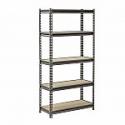 Deals List: Muscle Rack 60 in. H x 30 in. W x 12 in. D 5 Shelf Z-Beam Boltless Steel Shelving Unit in SilverVein