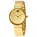 Deals List: Movado 3680014 Edge Yellow Gold Aluminum Dial Ladies Watch