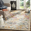 """Deals List: Safavieh Madison Collection MAD611B Bohemian Chic Distressed Area Rug, 5'1"""" x 7'6"""", Cream/Multicolored"""