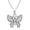 Deals List: Sparkle Dust Butterfly Pendant In .925 Sterling Silver