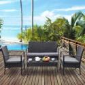 Deals List: Costway 4-Pcs Outdoor Patio Rattan Wicker Furniture Set