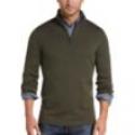 Deals List: Joseph Abboud Olive 1/4 Zip Mock Neck Wool Sweater