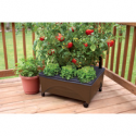 Deals List: EMSCO GROUP 20-in W x 24-in L x 10-in H Earth Brown Resin Raised Garden Bed