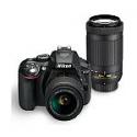 Deals List: Nikon Refurbished D5300 DSLR Camera with 18-55mm and 70-300mm Lens, Black
