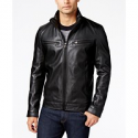 Deals List: Michael Kors Mens Perforated Faux-Leather Moto Jacket
