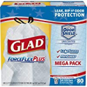 Deals List: 80-Ct Glad ForceFlexPlus Tall Kitchen Drawstring Bags 13 Gallon