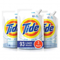 Deals List: Tide Free and Gentle HE Laundry Detergent, 3 Pack of 48 oz. Pouches, Unscented and Hypoallergenic for Sensitive Skin, 93 Loads