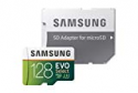 Deals List: Samsung 128GB 100MB/s (U3) MicroSD EVO Select Memory Card with Adapter (MB-ME128GA/AM)
