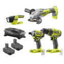 Deals List: Ryobi P1984N 18-Volt ONE+ Brushless 4-Tool Combo Kit w/Drill