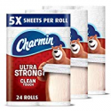 Deals List: Charmin Ultra Strong Clean Touch Toilet Paper, 24 Family Mega Rolls (Equal to 123 Regular Rolls)