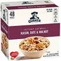 Deals List: Quaker Quaker Instant Oatmeal Raisin, Date, Walnut 48ct, 48 Count