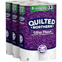 Deals List: Quilted Northern Ultra Plush Toilet Paper, 24 Supreme Rolls, 24 = 99 Regular Rolls, 3 Ply Bath Tissue, 3 Packs of 8 Rolls