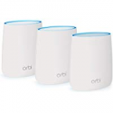 Deals List: NETGEAR Orbi Whole Home Mesh WiFi System - WiFi router and 2 satellite extenders with speeds up to 2.2 Gbps over 6,000 sq. feet, AC2200 (RBK23)