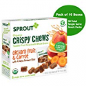 Deals List: Sprout Organic Crispy Chews Toddler Snacks, Orchard Fruit & Carrot, 5 Count Box of 0.63 Ounce Single Serve Packets (Pack of 10 Boxes)