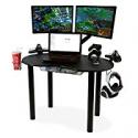 Deals List: Atlantic Gaming Original Gaming Desk - Eclipse Space Saver, Controller & Headphone Storage, Speaker Shelves, Carbon Fiber Desktop