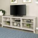 Deals List: Walker Edison 70-inch Wood TV Media Storage Stand White Wash