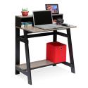 Deals List: Furinno 14054BK/GYW Simplistic a Frame Computer Desk, Black/Oak Grey