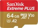 Deals List: SanDisk - Extreme PLUS 64GB microSDXC UHS-I Memory Card, SDSQXBZ-064G-ANCMA