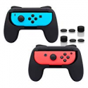 Deals List: FASTSNAIL Grips for Nintendo Switch Joy-Con, Wear-resistant Handle Kit for Switch Joy Cons Controller, 2 Pack (Black)