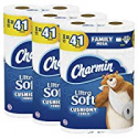 Deals List: Charmin Ultra Soft Cushiony Touch Toilet Paper, 24 Family Mega Rolls (Equal to 123 Regular Rolls)