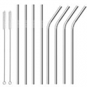 Deals List: Set of 8 Alotpower FDA-Approved Stainless Steel Straws 10.5-in