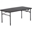 "Deals List: Mainstays 40"" Fold-in-Half Plastic Folding Table, Rich Black"