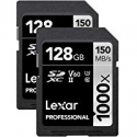 Deals List: Lexar 128GB Professional 1000x UHS-II U3 SDXC Memory Card - 2 Pack