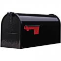 Deals List: Gibraltar Elite Medium, Galvanized Steel, Black Post Mount Mailbox