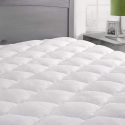 Deals List: ExceptionalSheets Rayon from Bamboo Mattress Pad with Fitted Skirt - Extra Plush Cooling Topper - Hypoallergenic - Made in The USA, Queen