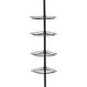 Deals List: Zenna Home 2114HB 2114HB, Tension Corner Pole Caddy, Oil Rubbed Bronze