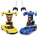 Deals List: 2-Pack Locke Teddy RC Transform Car Robot,RC Car Robot