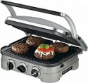 Deals List: Cuisinart - Griddler Stainless Steel 4-in-1 Grill/Griddle and Panini Press - Brushed Stainless-Steel/Black