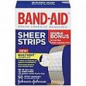 Deals List: Band-Aid Brand Tru-Stay Sheer Strips Adhesive Bandages for First Aid and Wound Care, All One Size, 40 ct