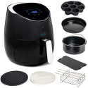 Deals List: Yedi Total Package XL Air Fryer, Deluxe Accessory Kit, 100 Recipes Included, Cooking Basket Divider, 2Yr Warranty. Healthy Air Crisper Oiless Oven (5.8 Qt)