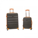 "Deals List: Rockland 20"", 28"" 2pc Expandable Abs Spinner Set, Charcoal"