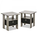 Deals List: Furinno 2-11157GYW Petite Night Stand, 2 End Tables, French Oak Grey