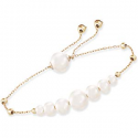 Deals List: Ross-Simons 8-9mm Cultured Pearl Double Hoop Earrings in 14kt Yellow Gold