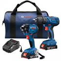Deals List: Bosch 18V 2-Tool Combo Kit with 1/2 In. Compact Drill/Driver and 1/4 In. Hex Impact Driver GXL18V-26B22