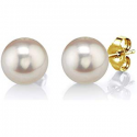 Deals List: THE PEARL SOURCE 14K Gold Round White Freshwater Cultured Pearl Stud Earrings for Women